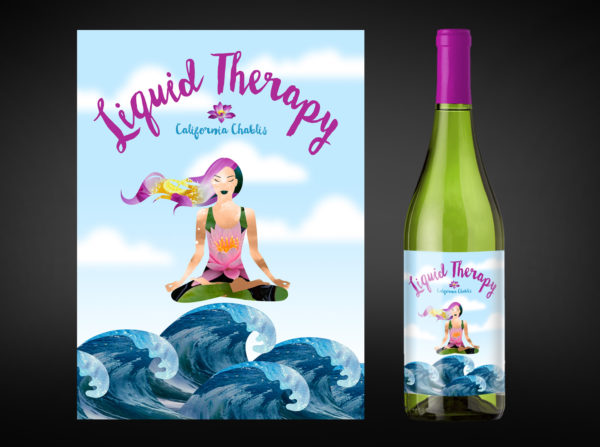 Liquid Therapy Wine Labels