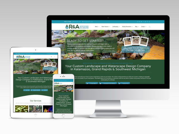 R&A Water Features and Landscaping Website